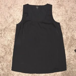 Solid Black Tank Top with a Sheen/Satin Finish